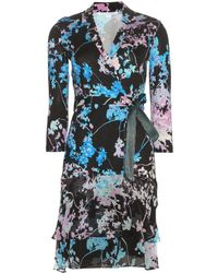 Diane von Furstenberg - Cathy Printed-Silk Wrap Dress - Lyst