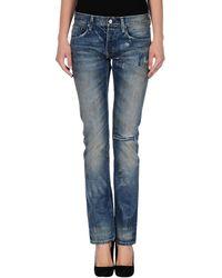 Ralph Lauren Blue Denim Trousers - Lyst