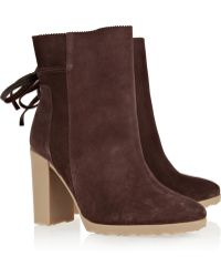 Pierre Hardy Suede Ankle Boots - Lyst