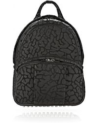 Alexander Wang Laser Cut Dumbo Backpack In Black With Rhodium - Lyst