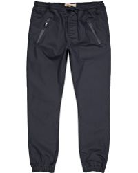 River Island Navy Coated Joggers - Lyst
