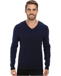 Calvin Klein Cotton Novelty Striped Sweater - Lyst