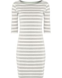 Linea Weekend 34 Sleeve Stripe Dress - Lyst