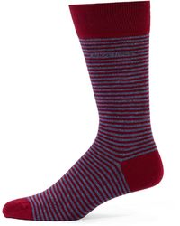 Hugo Boss Striped Dress Socks - Lyst