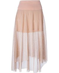 Chloé Sheer Volume Skirt - Lyst