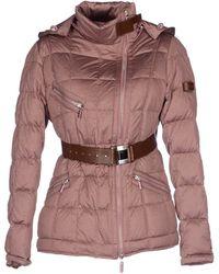 Piquadro Down Jacket pink - Lyst
