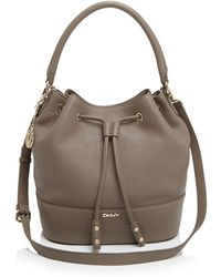DKNY Shoulder Bag - Tribeca Bucket Drawstring - Lyst