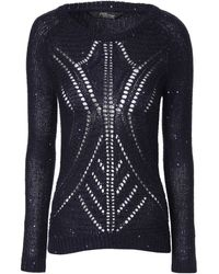 Jane Norman Sequin Pointelle Jumper - Lyst