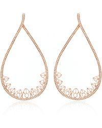 Joelle Jewellery - 18K Pink Gold Lace Drop Earrings - Lyst