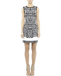 Nicole Miller Equilateral Stretch Linen Dress - Lyst