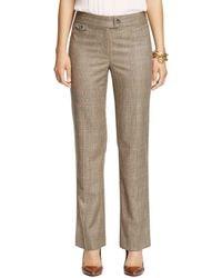 Brooks Brothers Caroline Fit Saxxon Wool Stretch Trousers - Lyst