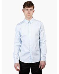 A.P.C. Men'S Blue Casual Cotton Shirt blue - Lyst