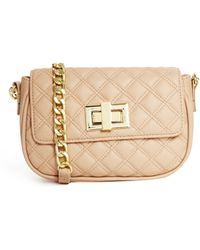 Asos Quilted Cross Body Bag with Chunky Chain - Lyst