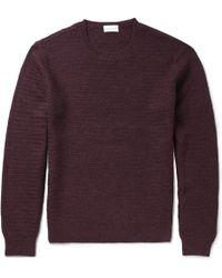 Club Monaco Waffle-knit Alpaca Sweater - Lyst