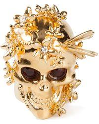Alexander McQueen Gold  Brass - Lyst
