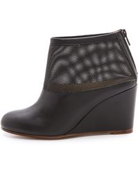 Maison Martin Margiela Mesh Wedge Booties - Black - Lyst