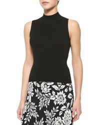 Theory Cashmere Everleen Ribbed Sleeveless Top - Lyst
