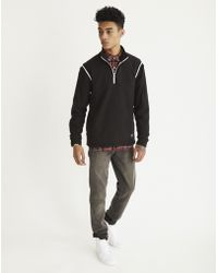 Rascals - Fleece Half Zip Black - Lyst