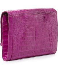 Nancy Gonzalez Large Crocodile Bar Clutch Bag - Lyst