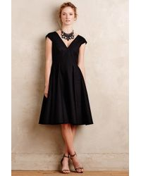 Peter Som - Paimpont Flared Silk Dress, Black - Lyst