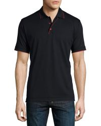 Robert Graham | Marlow Short-sleeve Polo Shirt With Contrast Trim | Lyst