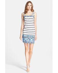 Emilio Pucci Nautical Print Stretch Cotton Dress - Lyst