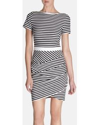 Karen Millen Stripe Tshirt Dress - Lyst