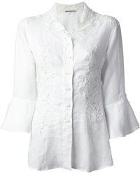 Ermanno Scervino Lace Panel Shirt - Lyst