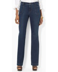 Ralph Lauren Lauren Patch Pocket Jeans in Indigo - Lyst