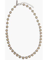 Rachel Zoe 'Mia' Station Necklace gold - Lyst