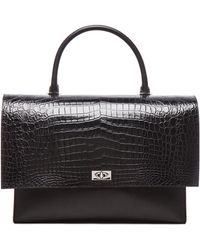 Givenchy - Large Shark Lock Stamped Croc Bag - Lyst