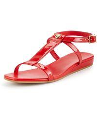 Cole Haan Paz Patent Leather T-Strap Sandal - Lyst
