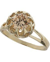 Topshop Peach Rhinestone Claw Set Ring  Peach - Lyst
