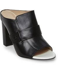 French Connection Black Kadyn Mules - Lyst