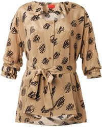 Vivienne Westwood Red Label Scribble-Print Silk Shirt - Lyst