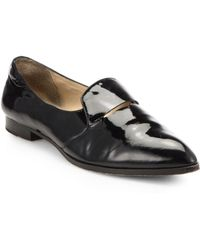 Elizabeth And James Aly Patent Leather Pointtoe Loafers - Lyst