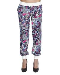 Frankie Morello Trouser Cachemire And Anchors Printed Silk Jogging Pants - Lyst