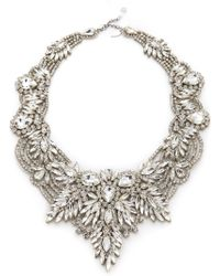 Jenny Packham - Gazelle Crystal Necklace - Lyst