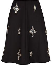 Ted Baker Black Embellished Skirt - Lyst