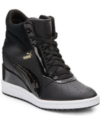 Puma Advantage Leather Wedge Sneakers - Lyst