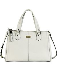 Cole Haan Village Leather Double Zip Satchel - Lyst
