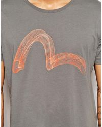 Evisu - T-Shirt Wire Seagull Logo - Lyst