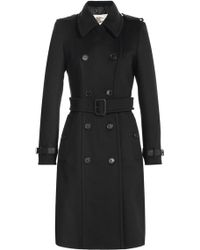 Burberry London Wool-Cashmere Trench Coat - Lyst
