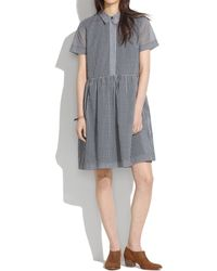 Madewell Gingham Clipboard Dress - Lyst