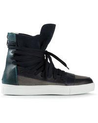 Kris Van Assche Panelled Hitop Sneakers - Lyst