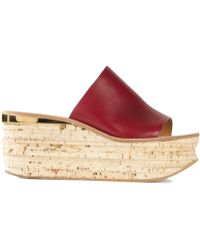 Chloé 'Camille' Wedge Mules - Lyst