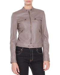 Tomas Maier Leather Zip-front Jacket - Lyst