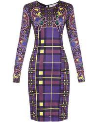 Mary Katrantzou Long-Sleeved Silk-Jersey Dress multicolor - Lyst