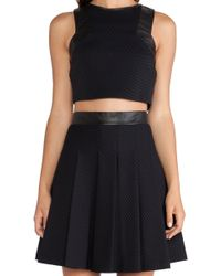Lapina By David Helwani Lapina Adrianne Crop Top - Lyst