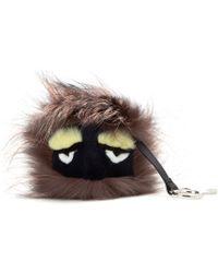 Fendi Bag Bugs Charm with Fox Mink and Rabbit Fur - Lyst